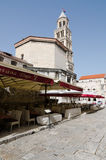 Street Restaurant. Split. SPLIT, CROATIA - MAY 19, 2013: Restaurant street in the Croatian city of Split, next to Diocletian's Palace. On May 19, 2013, in Royalty Free Stock Images