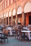 Street Restaurant in Bologna, Italy. Street Restaurant on a sunny day in Bologna, Italy Royalty Free Stock Photos