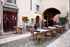 Street restaurant  in Verona, Italy Stock Images