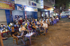 Street restaurant in Vietnam Stock Photos