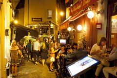 Street restaurants in Cannes Royalty Free Stock Photos