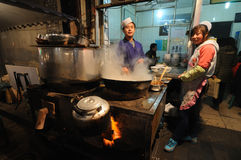Street restaurants  in xian Royalty Free Stock Photography