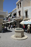 Street in Rethymno Stock Photography