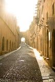 Street in Rhodes Stock Photo