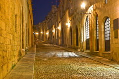 Street in Rhodes Royalty Free Stock Images