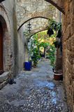 Street in rhodes old town Royalty Free Stock Photography