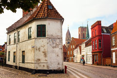 Street in Ribe Stock Images
