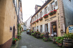 Street in Ribeauville Royalty Free Stock Photos