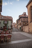 Street in Ribeauville Stock Photos