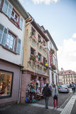 Street in Ribeauville Royalty Free Stock Image