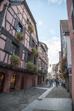 Street in Ribeauville Royalty Free Stock Images