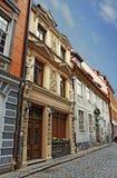 Street of Riga. Street  view of a Latvian capital - Riga Stock Image