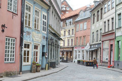 Street in Riga. Stock Photos