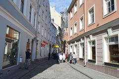 Street in Riga. Stock Images