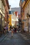 Street in Riga old town, Latvia Stock Photo
