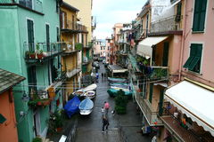 Street in Riomaggiore Royalty Free Stock Photo