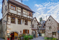 Street in Riquewihr, Alsace, France Stock Photo