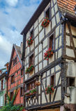 Street in Riquewihr, Alsace, France Stock Photos