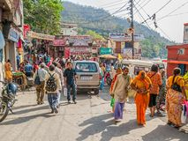 Street in Rishikesh Stock Images