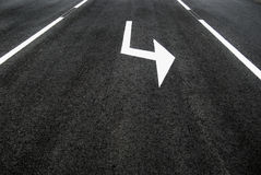 Street, road, arrow direction Royalty Free Stock Photography