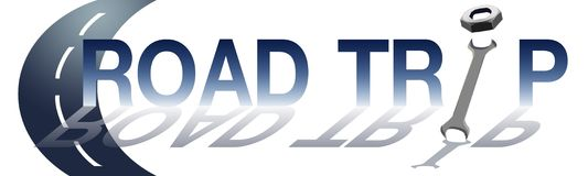 Street Road Background with Text Road Trip Royalty Free Stock Photography