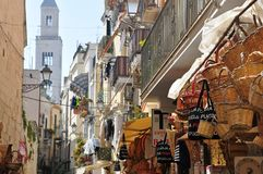 Street and road in Bari, Italy. Street and road in the old town Bari in Italy Stock Photography