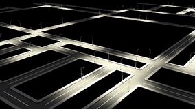 Street road with city road junction in night. Stock Images