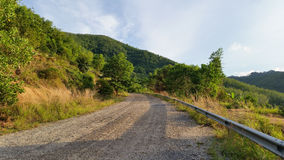 The street road down from the hill Stock Photography