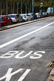 Street with road marking Royalty Free Stock Image