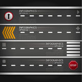 Street Road & Sign Business Infographics Stock Image