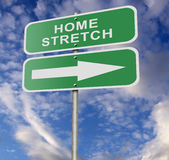 Street Road Sign Home Stretch. Illustration of a street road sign message Home Stretch, possibly for a business or personal strategy Royalty Free Stock Photo