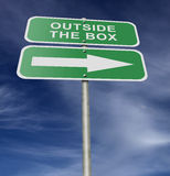Street Road Sign Outside The Box stock photography