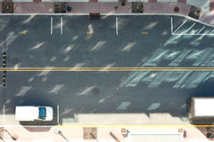 Street road view from above. Street road with cars view from above royalty free stock photography