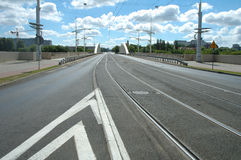 Street on Rocha bridge in Poznan Royalty Free Stock Photos