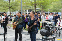 Street Rock Band Performing Royalty Free Stock Photography