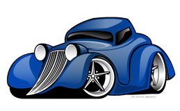 Street Rod Vector Illustration Royalty Free Stock Image