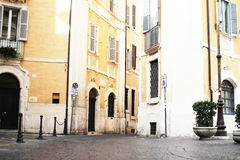 A Street in Rome. Bright street in a beautiful Rome in Italy Royalty Free Stock Photos