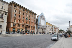 Street in Rome city Royalty Free Stock Photos