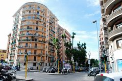 In the street of Rome city residential block Stock Photography