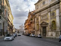 Street in Rome, Italy in February 2018 Stock Image