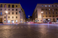 Street of Rome at Night Stock Photography