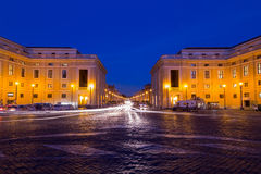 Street of Rome at Night Stock Photo