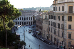 Street in Rome, top view. One of the streets in Rome, Italy Stock Photos