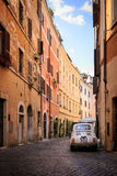 Street in Rome. Typical historic centre roman street, Italy stock photo