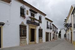 Street in Ronda, Spain royalty free stock image