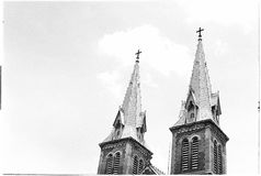 On the street. Rooftop of the Saigon cathedral basilice Royalty Free Stock Photography