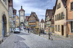 Street in Rothenburg ob den Tauber, Germany Royalty Free Stock Photos