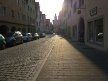 Street in Rothenburg ob der Tauber Royalty Free Stock Photos