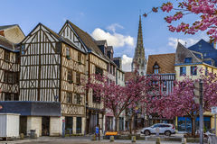 Street in Rouen, France Royalty Free Stock Images