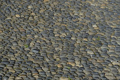 Street round roller-Pebble stone Royalty Free Stock Photo